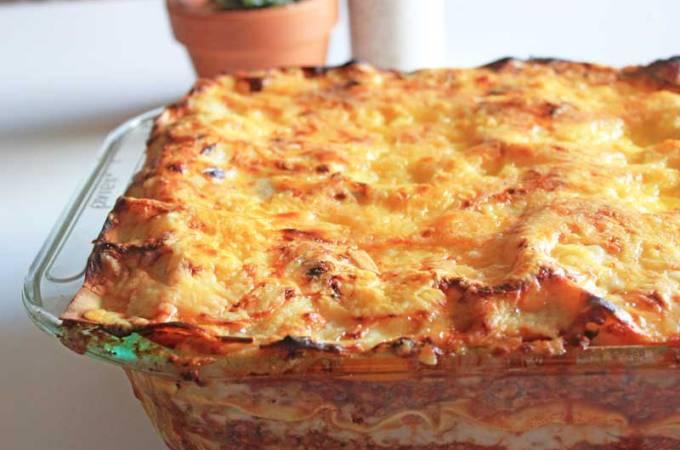 """""""Meaty"""" Vegetarian Lasagne"""