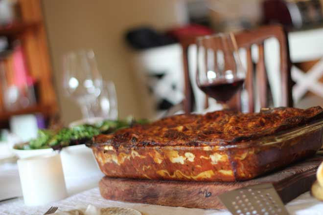 The best vegetarian lasagna. For real.