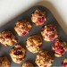 Crunchy on the outside, soft on the inside, you'll love these vegan raspberry muffins. Excellent for after school snacks or school lunchboxes or anytime, really!) | theveggiemama.com