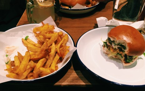 honest burger and rosemary chips