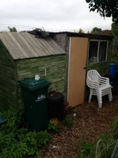 This is our shed it was here when we took on the plot but we added the door.