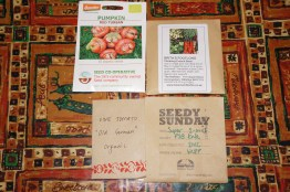 Seeds I came home with from seedy Sunday.