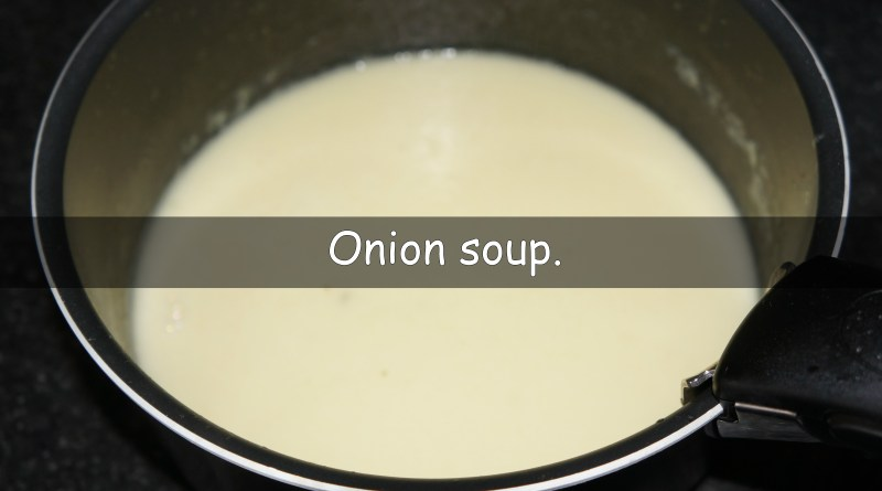 A simple onion soup