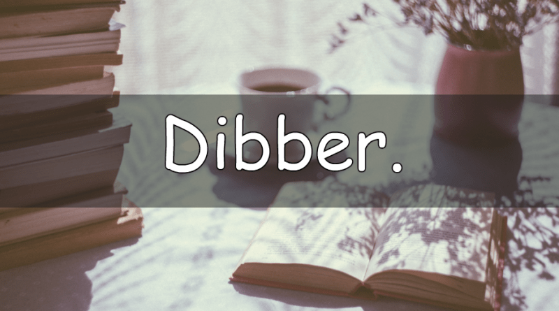 It's Wednesday which means its word of the week time. A weekly look at my understanding of a horticultural word. This week we are looking at the word dibber.