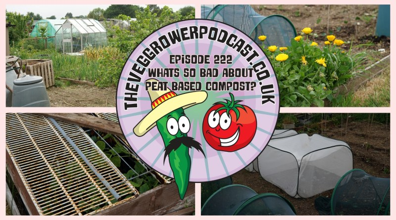 Join me in this weeks podcast where I answer a question from a listener who wants to know what's so bad about peat based compost. We also have the latest from the plots.