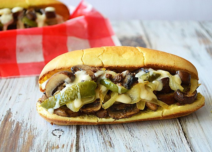 Philly Style Mushroom Cheesesteak {Vegan} - TheVegLife