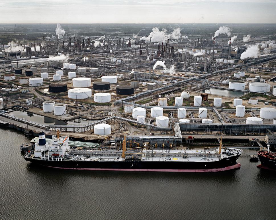 Oil Tanker and Refineries, Pasadena, Texas, USA