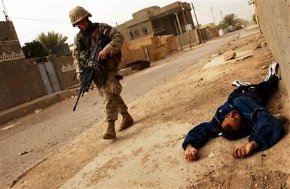 An insurgent killed in Iraq