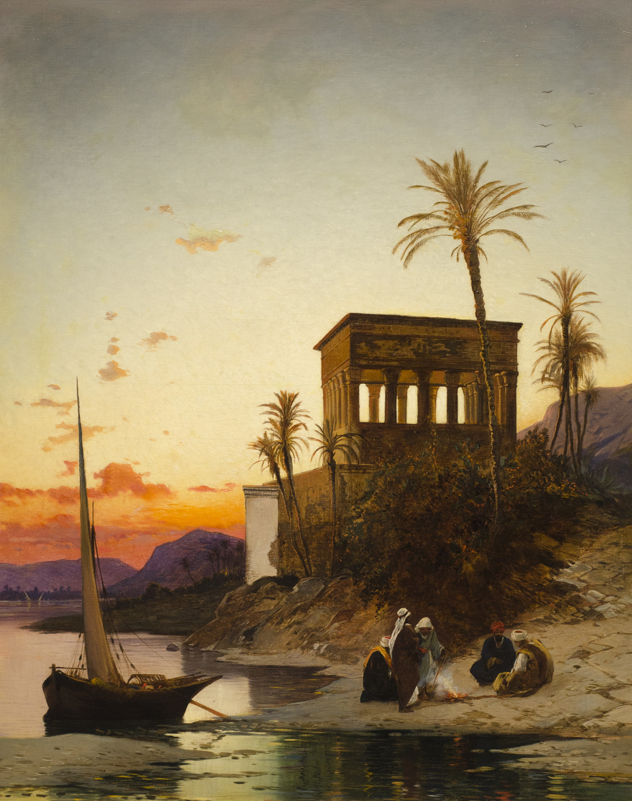 Paintings Of The Day Along The Nile River The Velvet Rocket