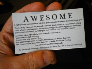 The %22Awesome Card%22 front