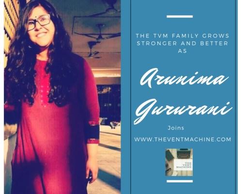 Guest Blogger – Arunima Gururani