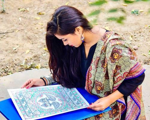 This Delhite Who Belongs to Uttarakhand is Keeping Bihar's Traditional Art Alive