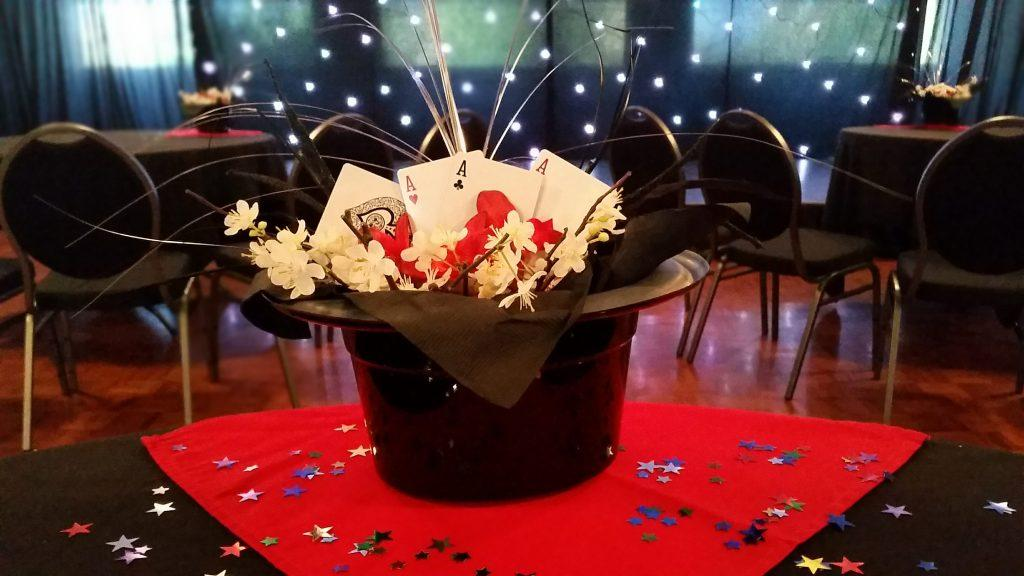 Magic Hat Centrepiece Setup during private party at Darwin