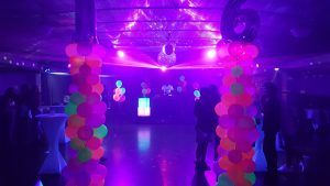 Party Setup for Fluro Neon Glow Party in Function Venue Darwin
