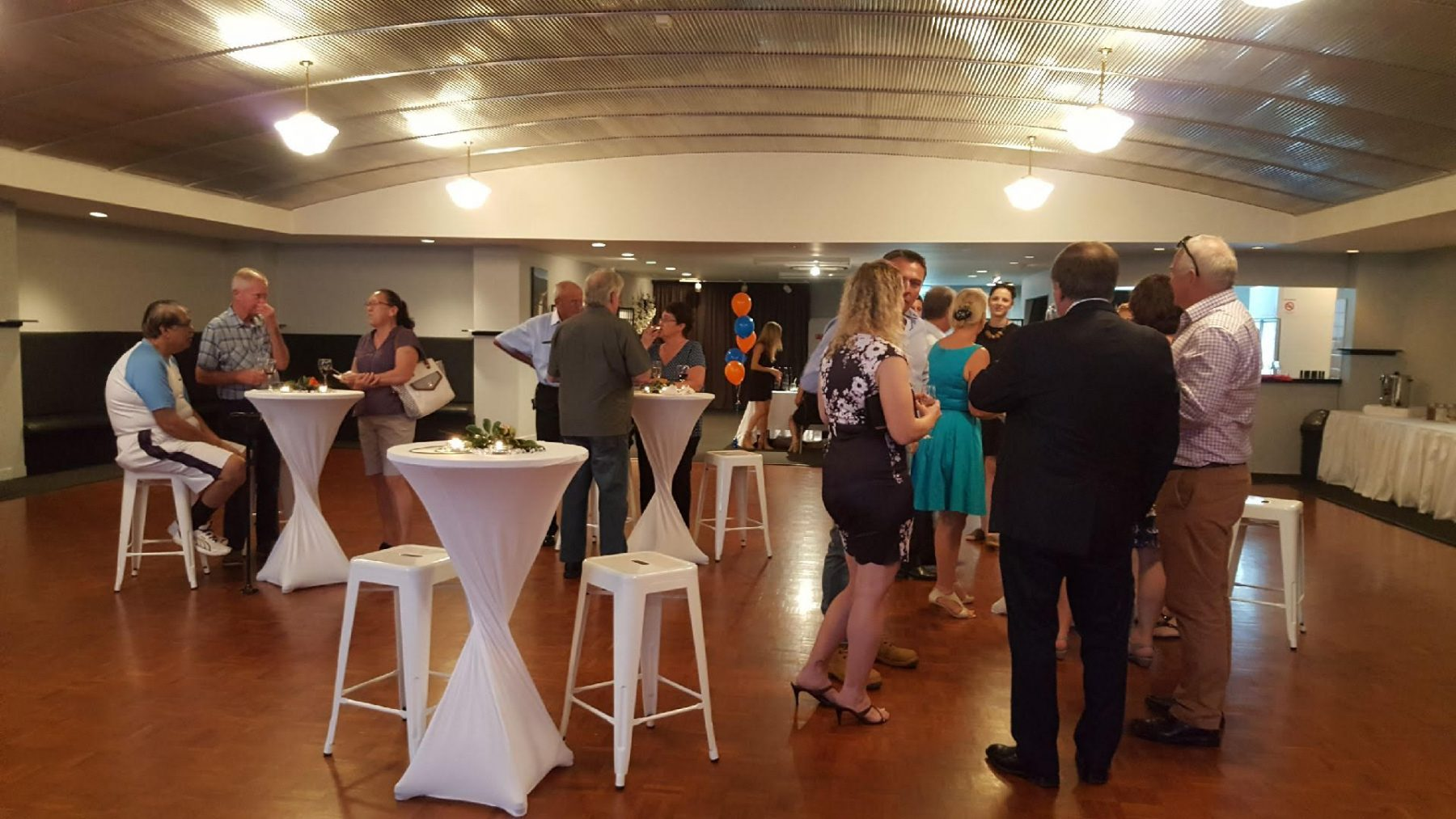corporate event; product preview; canapes & beverages;