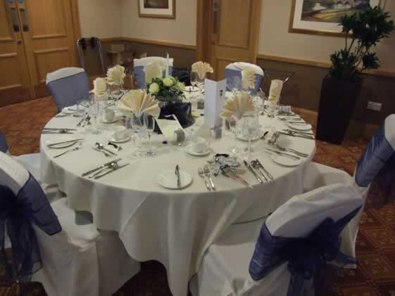 chair cover hire shrewsbury reclining with ottoman canada the uk wedding company - venue dresser showcase hill valley hotel and spa