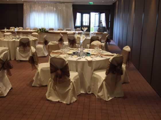 chair cover hire manchester uk large swivel the wedding company - venue dresser showcase village hotel warrington