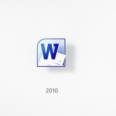 האבולוציה של Word \ צילום: מיקרוסופט