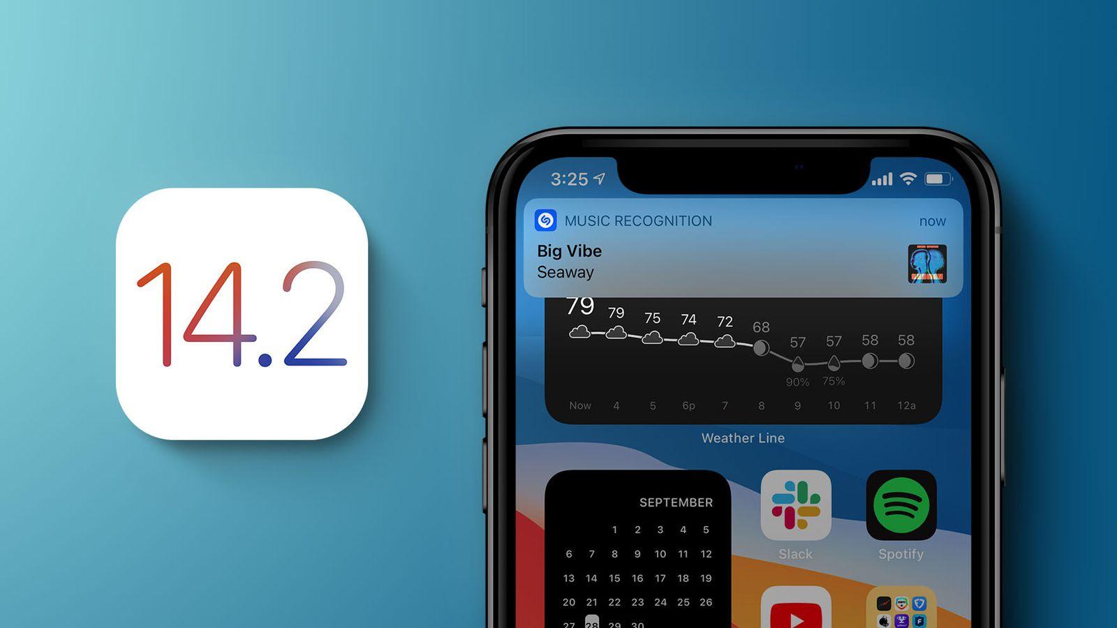 עדכון iOS 14.2 \ תמונה: MacRumors