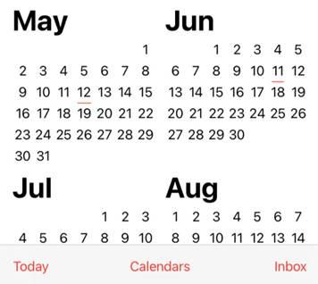 הגדורת לוח שנה אייפון