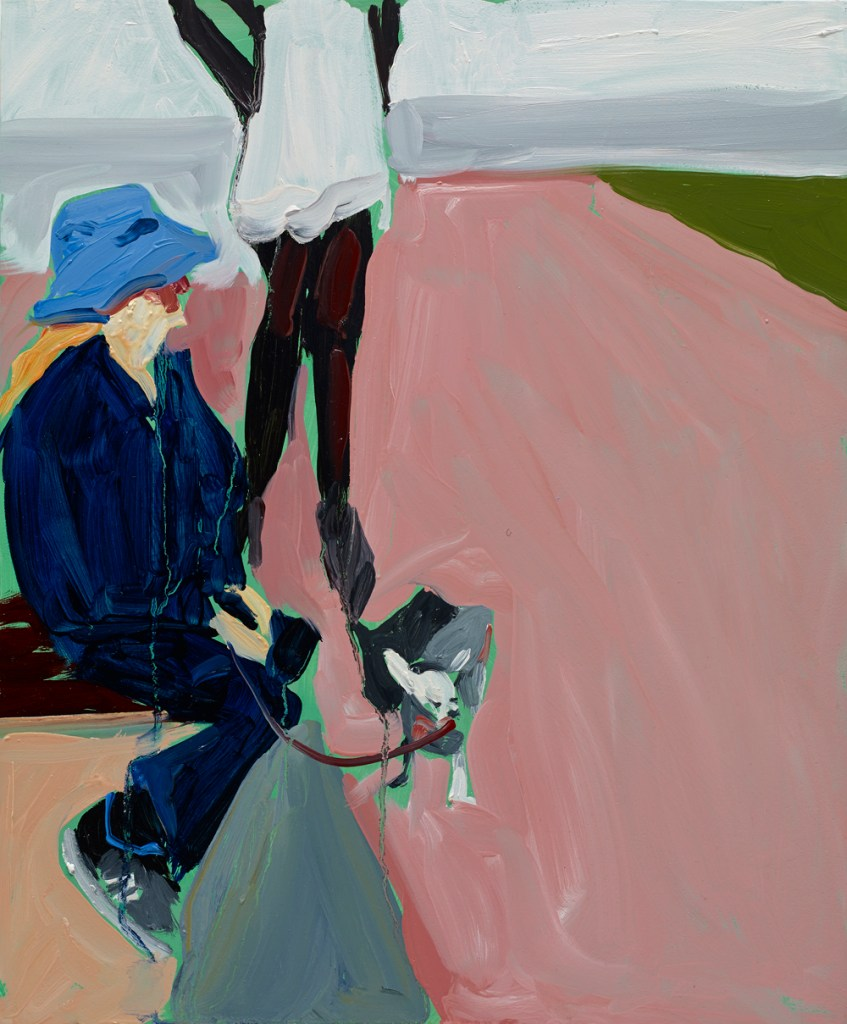 Chantal Joffe, Pinky, 2014. Oil on board. Courtesy the artist and Victoria Miro Gallery, ©Chantal Joffe (1)