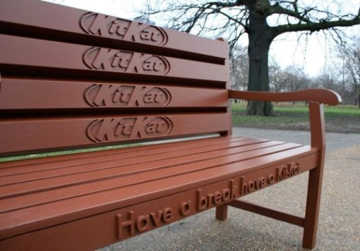 Kit-Kat Theme Park Bench