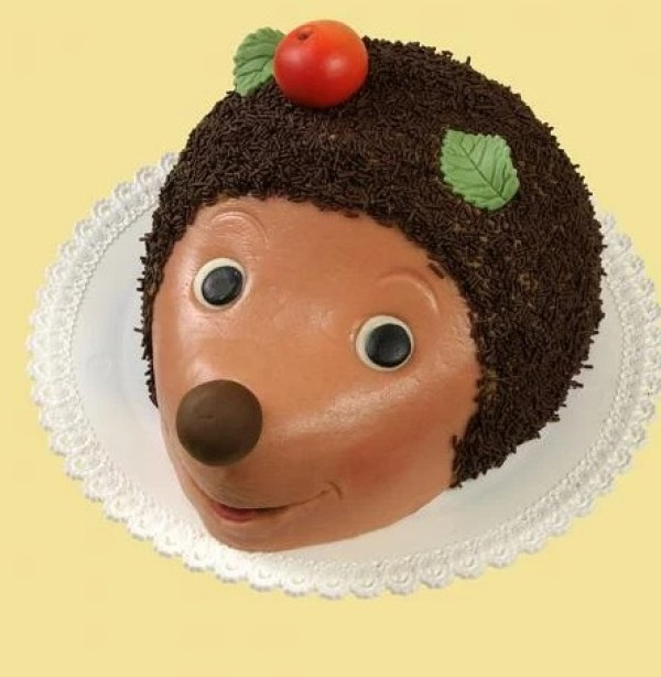 Hedgehog Cake Made With Chocolate Sprinkles