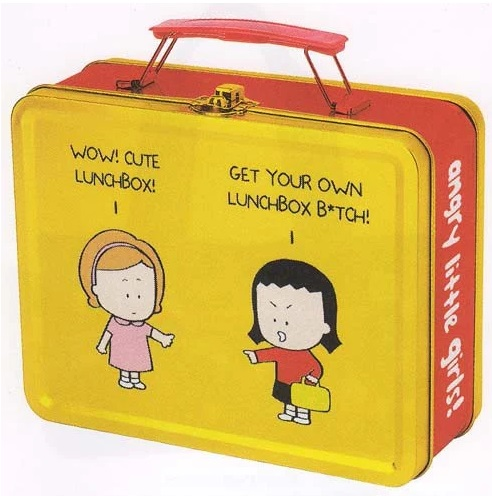 Angry Little Girls Tin Lunch Box