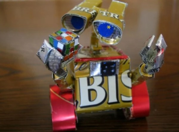 Wall-e Sculpture Made From Recycled Drinks Cans