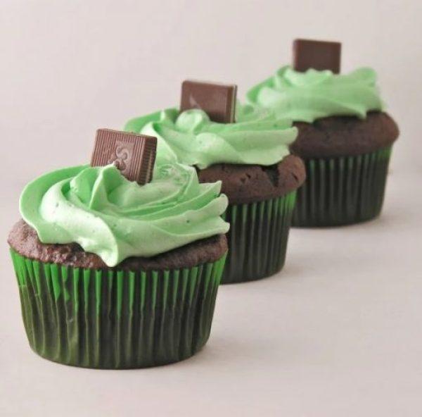 Grasshopper Mint Cupcakes