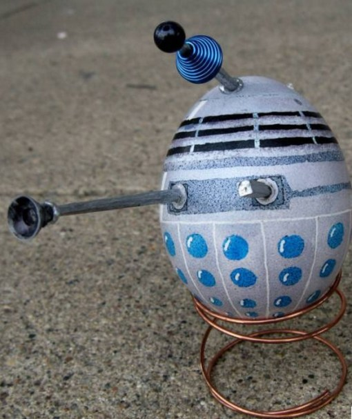 Dalek Painted Easter Eggs