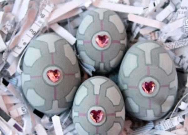 Portal companion cube Painted Easter Eggs