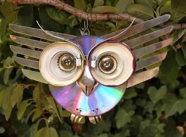 Garden Ornament made with CD's