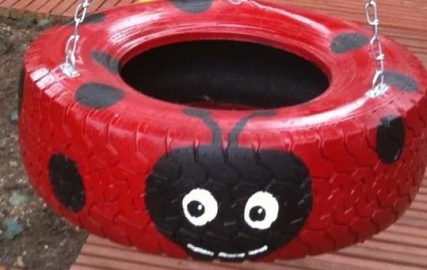 Ladybird Tyre Swing