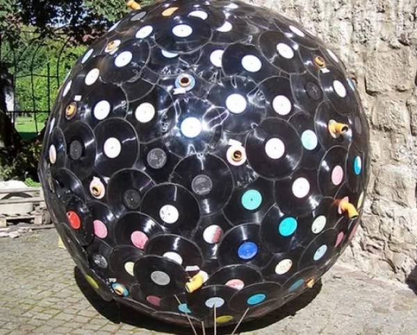 Art made from vinyl record