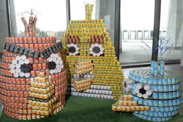 Ten Great Canstruction Designs All Made With Tins of Food