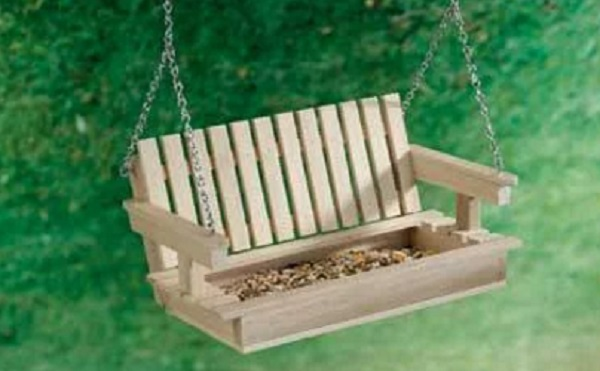 Porch Swing Bird Feeder