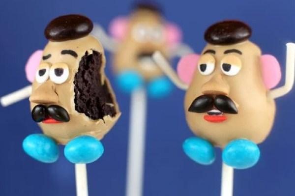 Mr Potato head cake pops