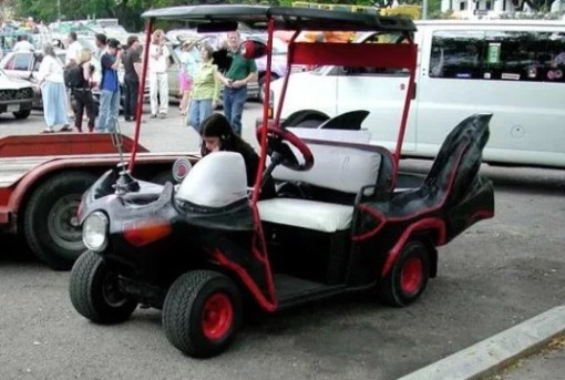 TV show classic Batman golf cart