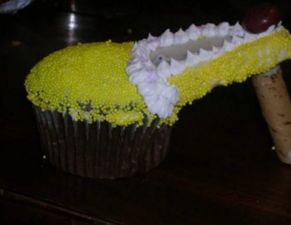 Yellow High Heels Cupcakes