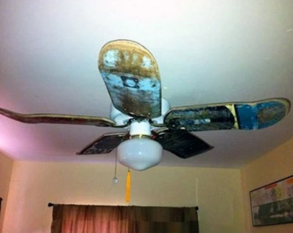 Used Skateboard Deck Ceiling Fan Blades