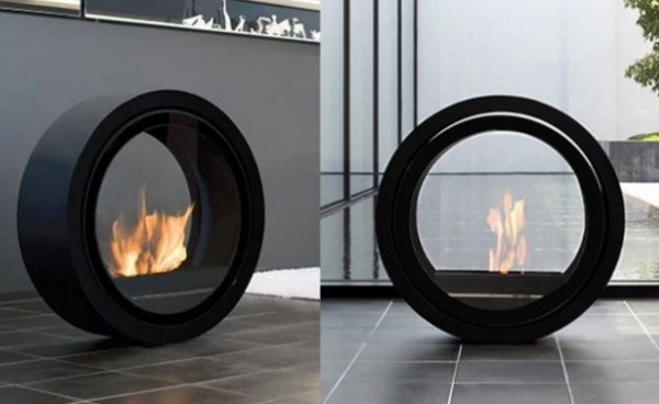 Roll Fire Ultra Modern Fireplace