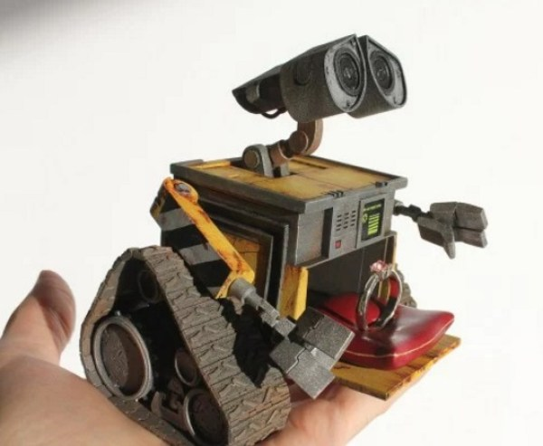 Wall-E custom engagement ring box
