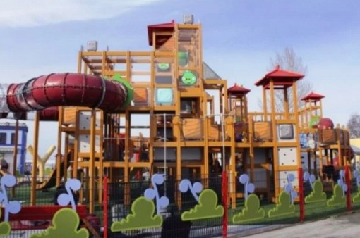 Angry Birds Style Children's Playground
