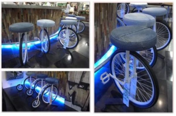 Bicycle Repurposed as a stool