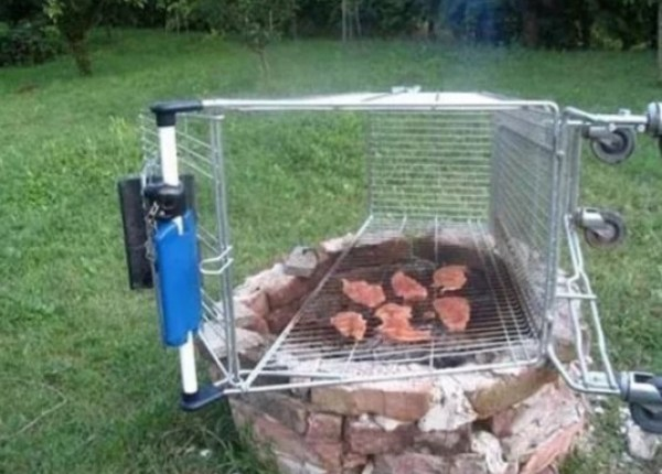 Shopping Trolley Barbecue Grill