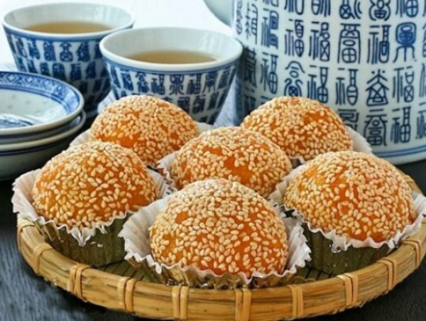 Deep Fried Glutinous Rice Balls