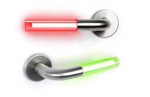 Lightsaber inspired door handles