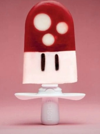 Homemade Super Mario Mushroom ice lolly