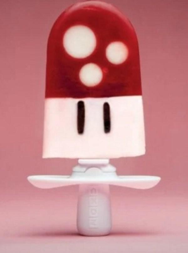 Homemade Super Mario Mushroom ice lolly